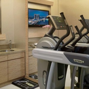 Marina Bay Sands - Luxury Singapore Honeymoon Packages - private gym in room