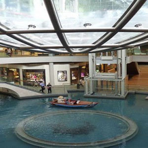 Marina Bay Sands - Luxury Singapore Honeymoon Packages - the shoppes along canal1
