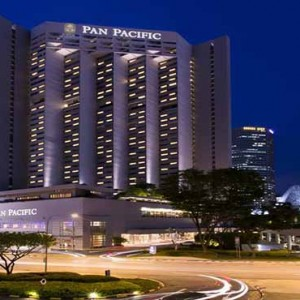 Pan Pacific Luxury Singapore Honeymoon Packages Hotel Exterior At Night