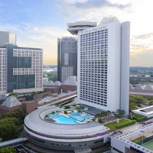 Pan Pacific Luxury Singapore Honeymoon Packages Hotel Aerial View By Day