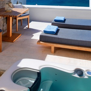 Premium Sea View Jacuzzi 4 - Mykonos Grand Hotel and Resort - luxury Greece honeymoon Packages