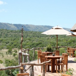 Pumba Private Game reserve - Luxury South Africa Honeymoon Packages - Bush Lodge Msenge Chalets balcony