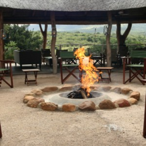 Pumba Private Game reserve - Luxury South Africa Honeymoon Packages - Bush Lodge Msenge Chalets exterior lounge