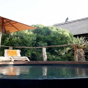 Pumba Private Game reserve - Luxury South Africa Honeymoon Packages - Bush Lodge Msenge Chalets pool