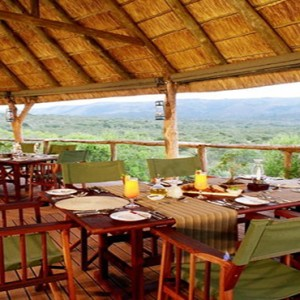 Pumba Private Game reserve - Luxury South Africa Honeymoon Packages - Restaurant view