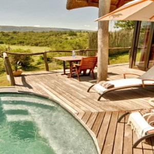 Pumba Private Game reserve - Luxury South Africa Honeymoon Packages - Water Lodge exterior pool