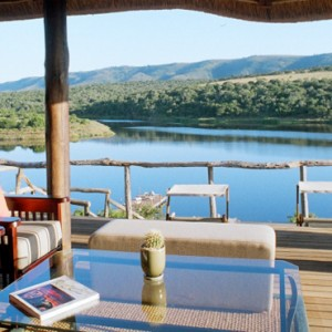 Pumba Private Game reserve - Luxury South Africa Honeymoon Packages - Water Lodge sun deck