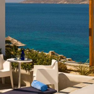 Sea View suite Separate living Room 4 - Mykonos Grand Hotel and Resort - luxury Greece honeymoon Packages