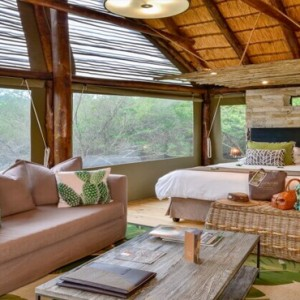 Shamwari Game Reserve - Luxury South Africa Honeymoon Packages - Bayethe Tented lodge interior1