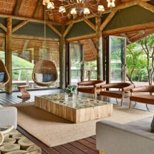 Shamwari Game Reserve - Luxury South Africa Honeymoon Packages - Bayethe Tented lodge living area