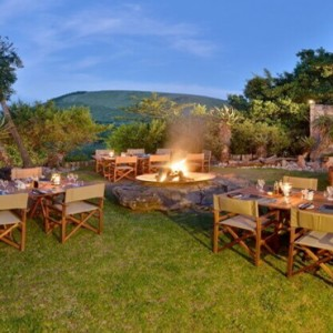 Shamwari Game Reserve - Luxury South Africa Honeymoon Packages - Bayethe Tented lodge outdoor area