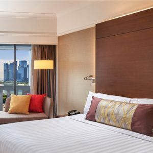 Singapore Honeymoon Packages PARKROYAL On Marina Bay Deluxe Marina Bay View Room Bedroom