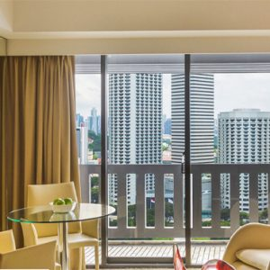 Singapore Honeymoon Packages PARKROYAL On Marina Bay Deluxe Suite Living Room