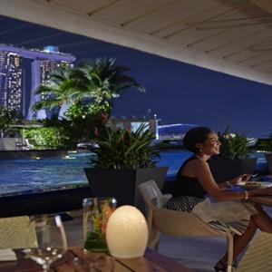 Singapore Honeymoon Packages Mandarin Oriental Dolce Vita Terrace At Night