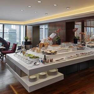 Singapore Honeymoon Packages Mandarin Oriental Club Lounge Buffet