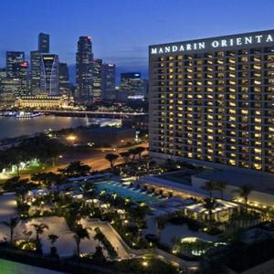 Singapore Honeymoon Packages Mandarin Oriental Hotel Exterior