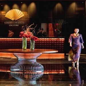 Singapore Honeymoon Packages Mandarin Oriental Lobby