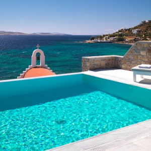 Suite with Private Pool 4 - Mykonos Grand Hotel and Resort - luxury Greece honeymoon Packages
