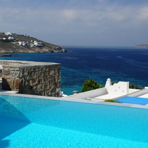 Suite with Private Pool - Mykonos Grand Hotel and Resort - luxury Greece honeymoon Packages