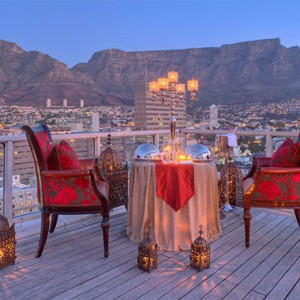 Taj Cape Town - Luxury South Africa Honeymoon Packages - Private dining with a view