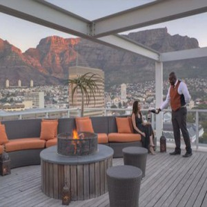 Taj Cape Town - Luxury South Africa Honeymoon Packages - Terrace