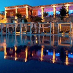 cabana 2 - Mykonos Grand Hotel and Resort - luxury Greece honeymoon Packages