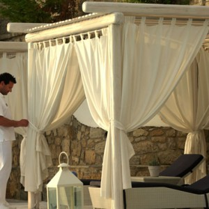 cabana - Mykonos Grand Hotel and Resort - luxury Greece honeymoon Packages