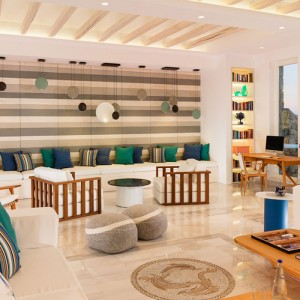 lobby - Mykonos Grand Hotel and Resort - luxury Greece honeymoon Packages