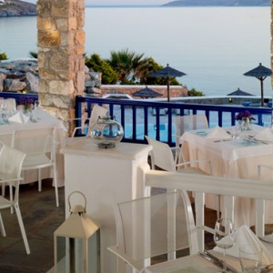 restaurants - Mykonos Grand Hotel and Resort - luxury Greece honeymoon Packages
