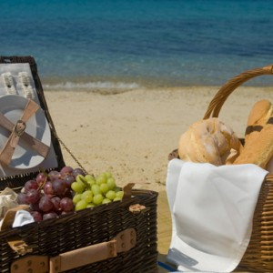 romantic picnic - Mykonos Grand Hotel and Resort - luxury Greece honeymoon Packages