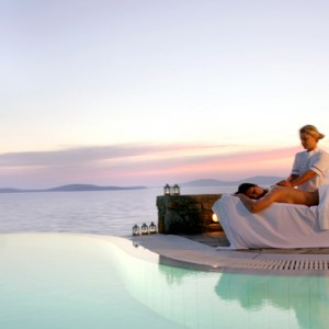 spa - Mykonos Grand Hotel and Resort - luxury Greece honeymoon Packages