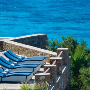 sunloungers - Mykonos Grand Hotel and Resort - luxury Greece honeymoon Packages