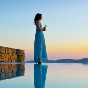 sunset - Mykonos Grand Hotel and Resort - luxury Greece honeymoon Packages