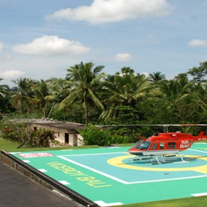 Bali Honeymoon Packages Viceroy Bali Helicopter Pad