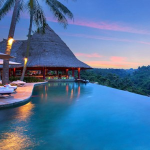 Bali Honeymoon Packages Viceroy Bali Main Pool At Night