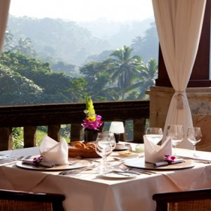 Bali Honeymoon Packages Viceroy Bali Restaurant Dining View