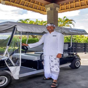 Bali Honeymoon Packages Viceroy Bali Transfer Buggy