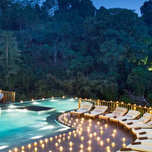 Bali Honeymoon Packages Hanging Gardens Of Bali Infinity Pool At Night