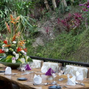 Bali Honeymoon Packages Hanging Gardens Of Bali Presidential Suite Dining Area