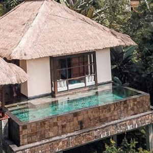 Bali Honeymoon Packages Hanging Gardens Of Bali Riverside Villa Exterior