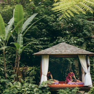 Bali Honeymoon Packages Hanging Gardens Of Bali Outdoor Spa Massage1