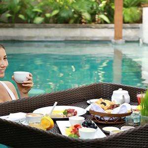 Bali Honeymoon Packages The Elysian Seminyak Breakfast In Pool