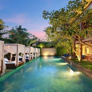 Bali Honeymoon Packages The Elysian Seminyak Pool At Night1