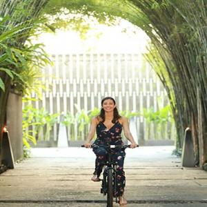 Bali Honeymoon Packages The Elysian Seminyak Woman Cycling
