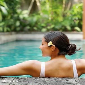 Bali Honeymoon Packages The Elysian Seminyak Women Relaxing In Pool
