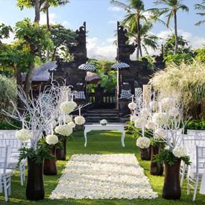 Bali Honeymoon Packages The Laguna Bali Wedding Setup2