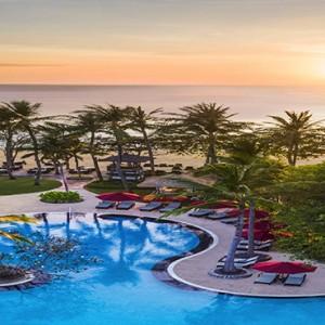 Bali Honeymoon Packages The Laguna Bali Pool At Sunset
