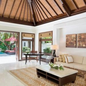 Bali Honeymoon Packages The Laguna Resort & Spa Hibiscus Villa Living Area