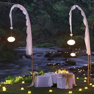 Bali Honeymoon Packages The Samaya Ubud 100 Candle Dinner At Swept Away Restaurant