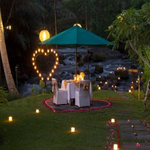 Bali Honeymoon Packages The Samaya Ubud 100 Candle Dinner At Swept Away Restaurant1